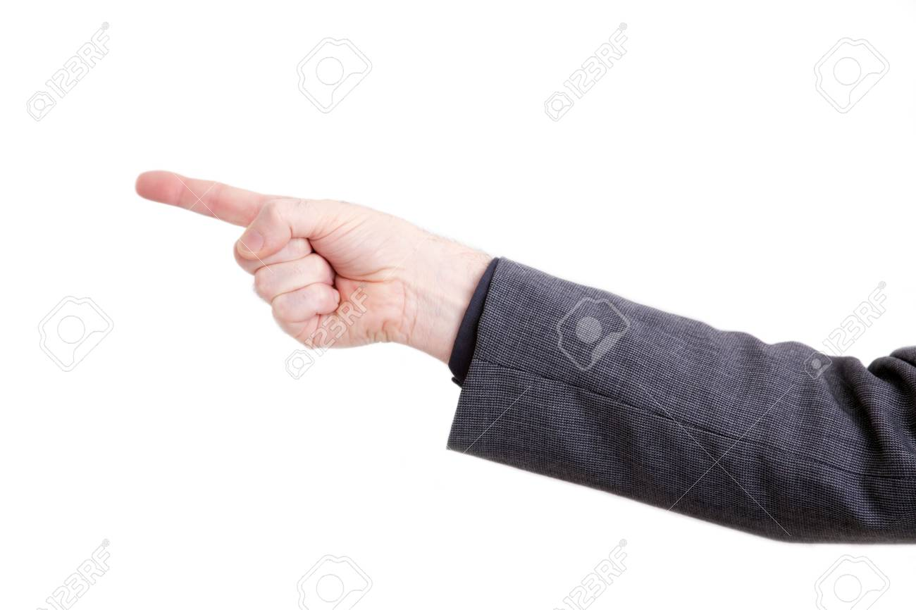 Isolated mans arm showing direction or making a threat Stock Photo - 6168677