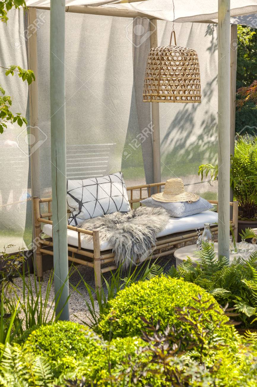 Image of bamboo garden furniture.