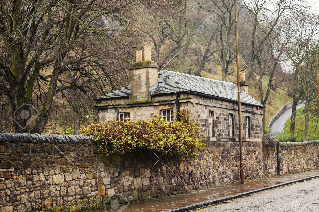 image of quaint stone cottage in edinburgh scotland stock photo rh 123rf com