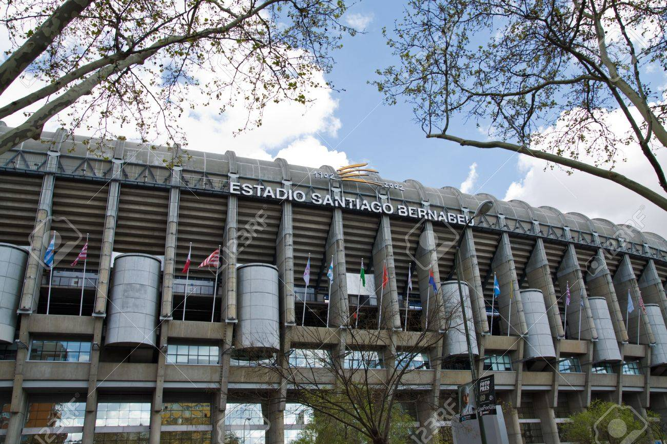 Santiago Bernabeu Stadium In Madrid Spain Stadium Of Final