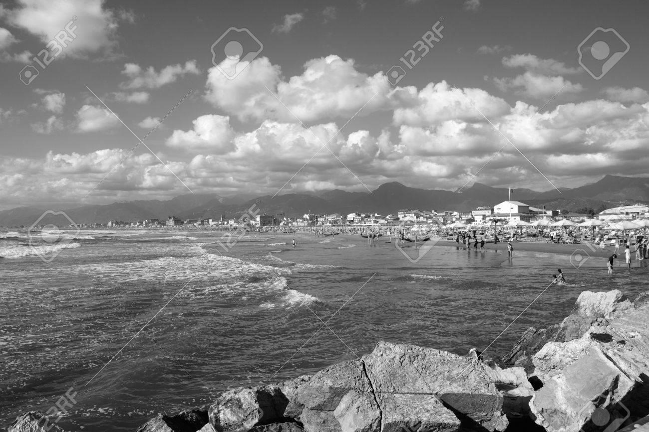Coast of the Versilia. Viareggio Tuscany, Italy Stock Photo - 7824167