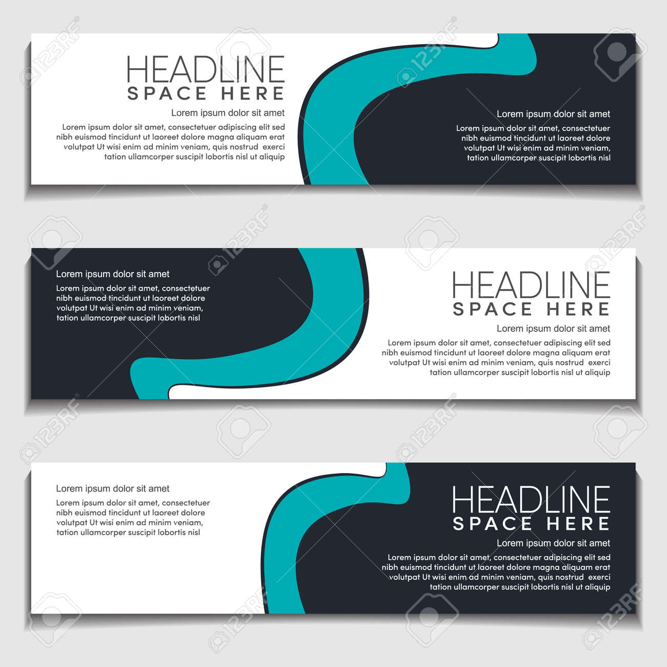 Design Modern Wavy, Wave, Curve Cyan Gradient Light Background for Web Banner, Label, Header, Publication Advertising.Vector Abstract EPS10 - 159863623