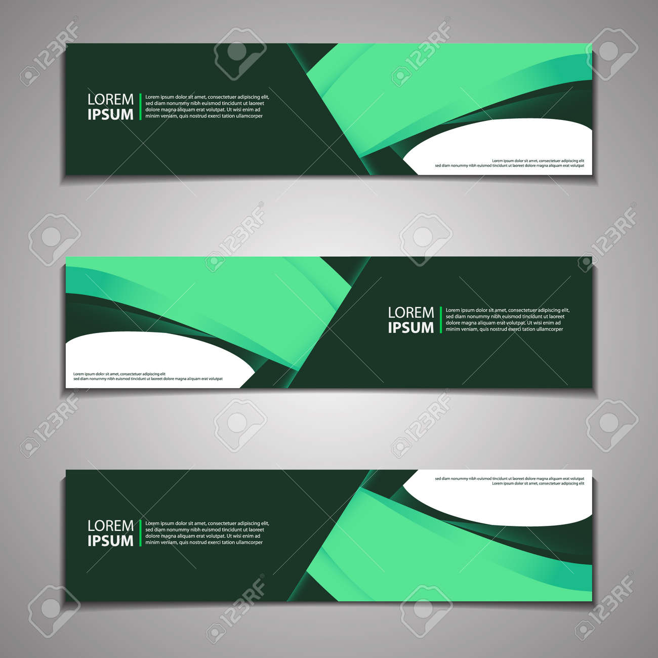 Label Banner Background Modern Business Corporate Template Design Web - 159863677