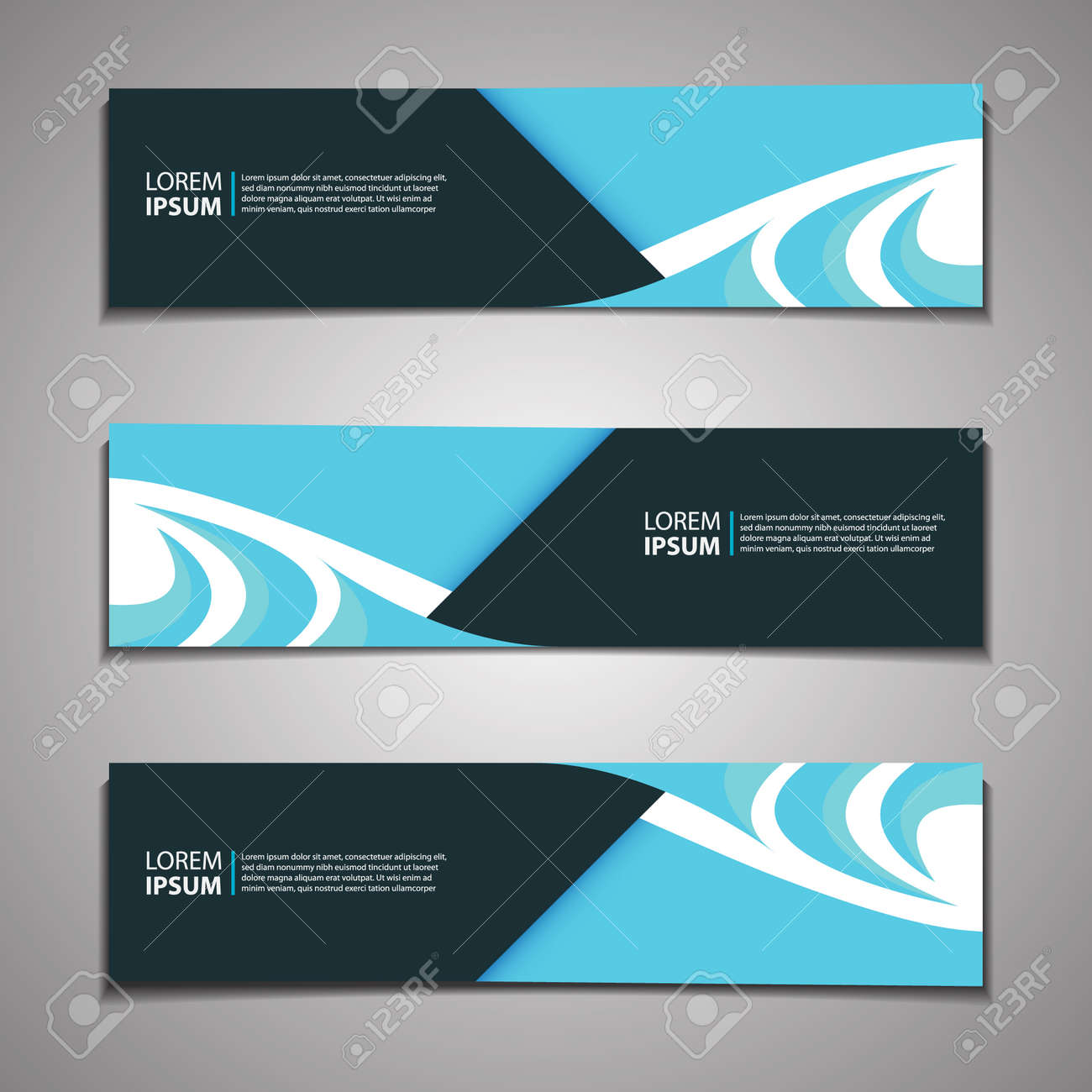 Label Banner Background Modern Business Corporate Template Design Web - 159863853