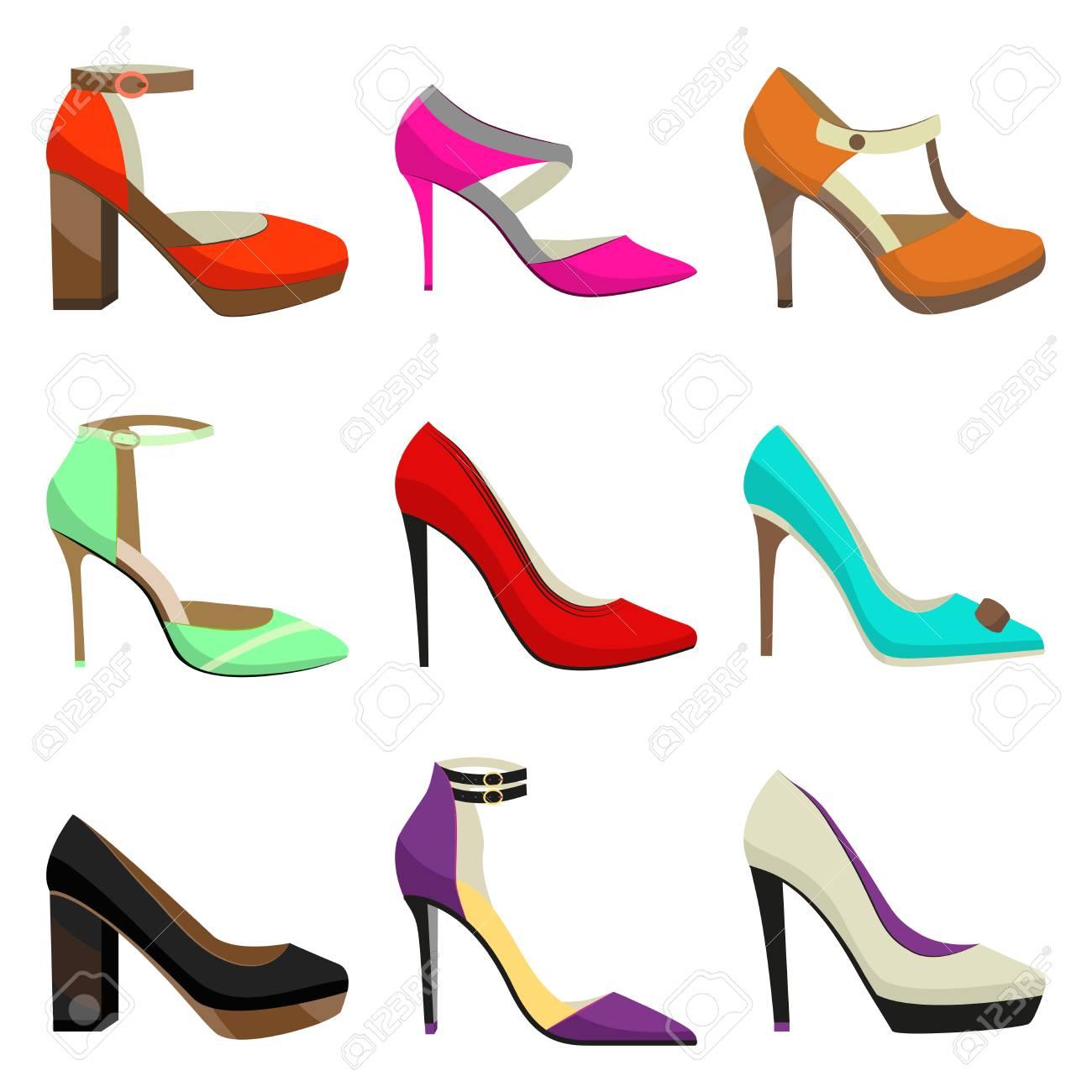 De Conjunto Coloridos Zapatos Bfvyy6g7 Mujerfahionable Tacón Alto c1JlFK