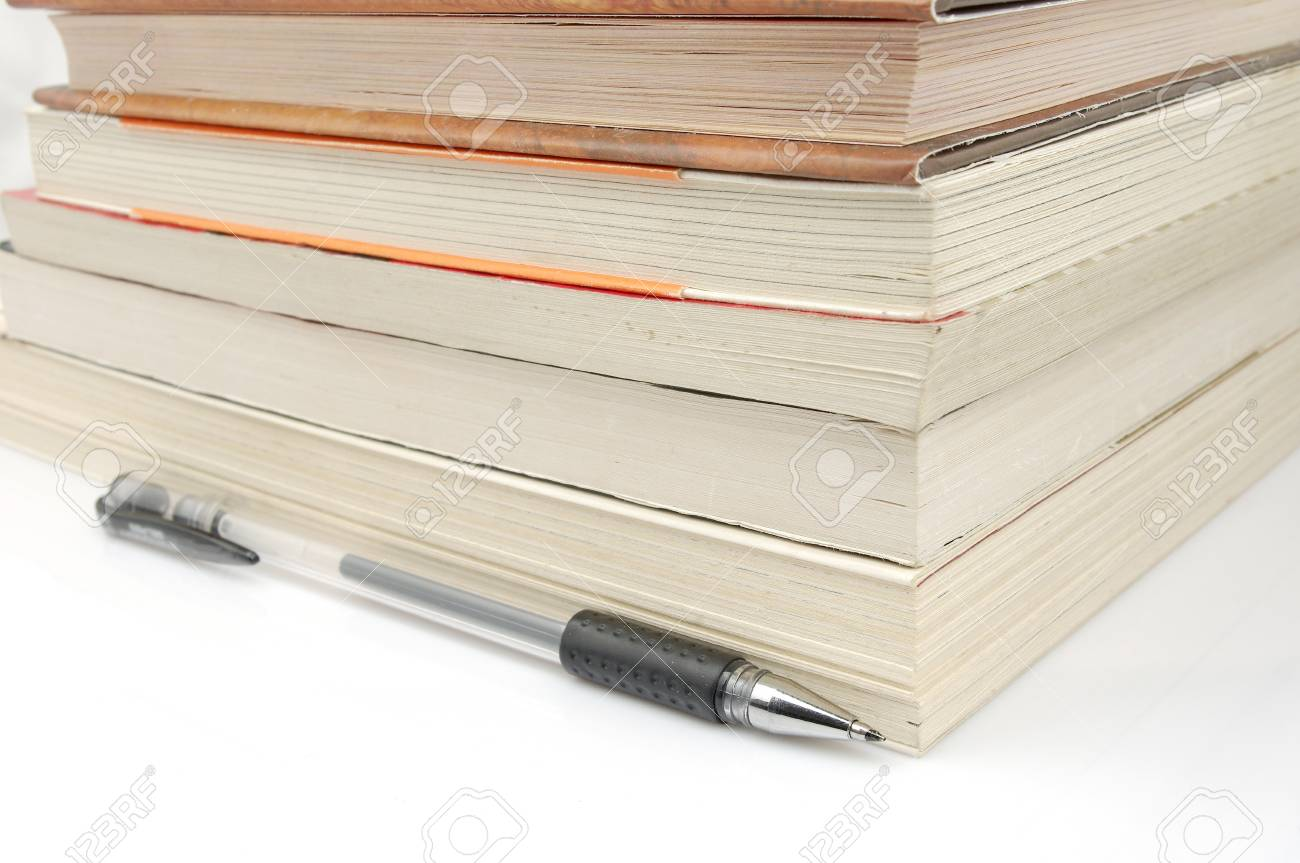 Pens and books  to express the concept of reading Stock Photo - 14454089