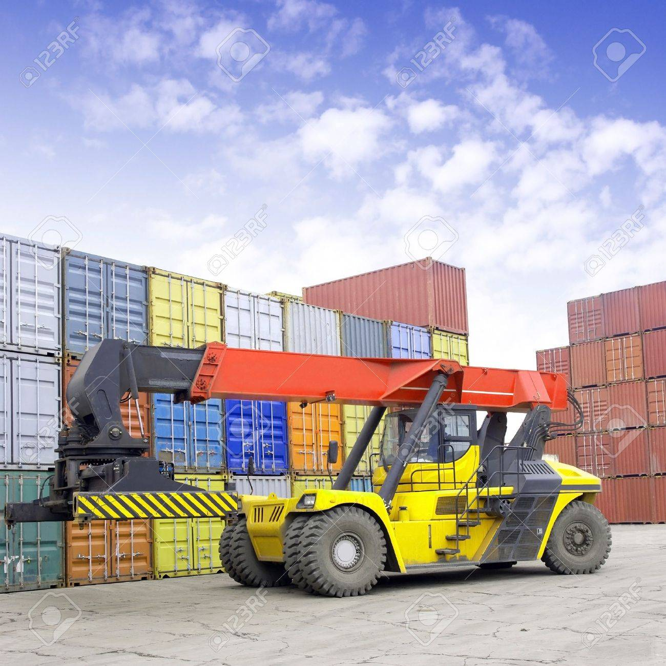 Containers and stackers Stock Photo - 15126616