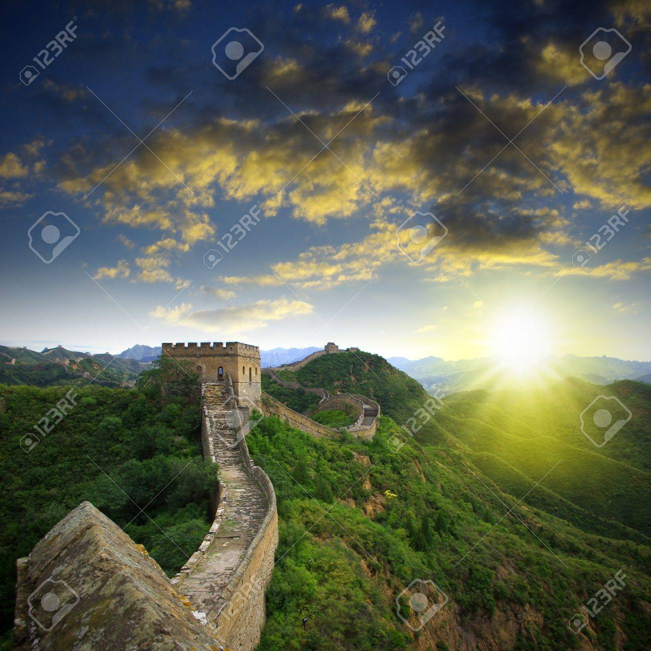 Sunset Great Wall Stock Photo - 15622508