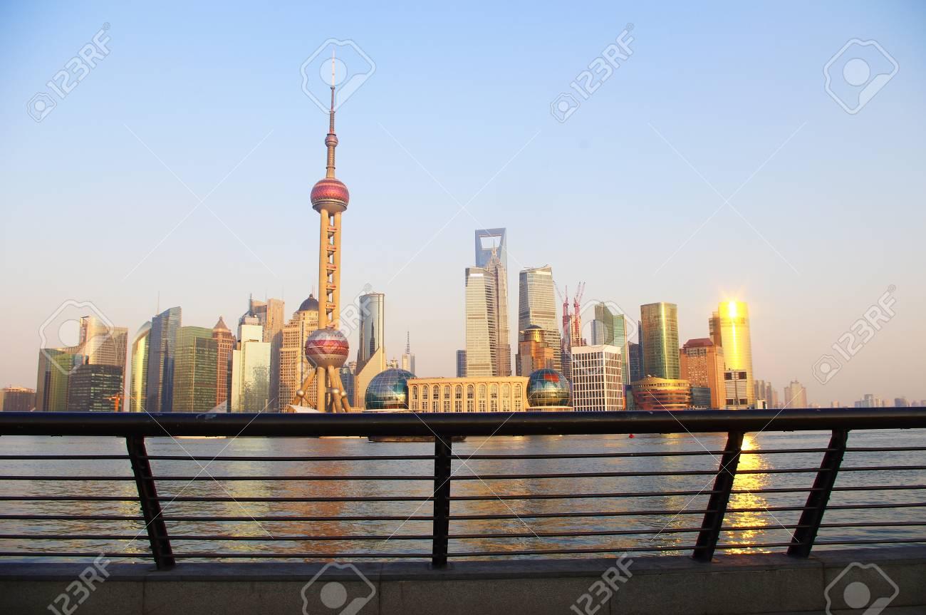Sunset Shanghai Stock Photo - 17473872