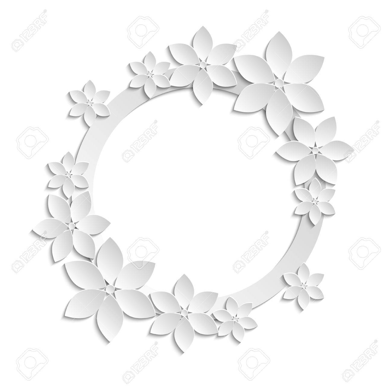 Flower Paper Border Vaydileforic