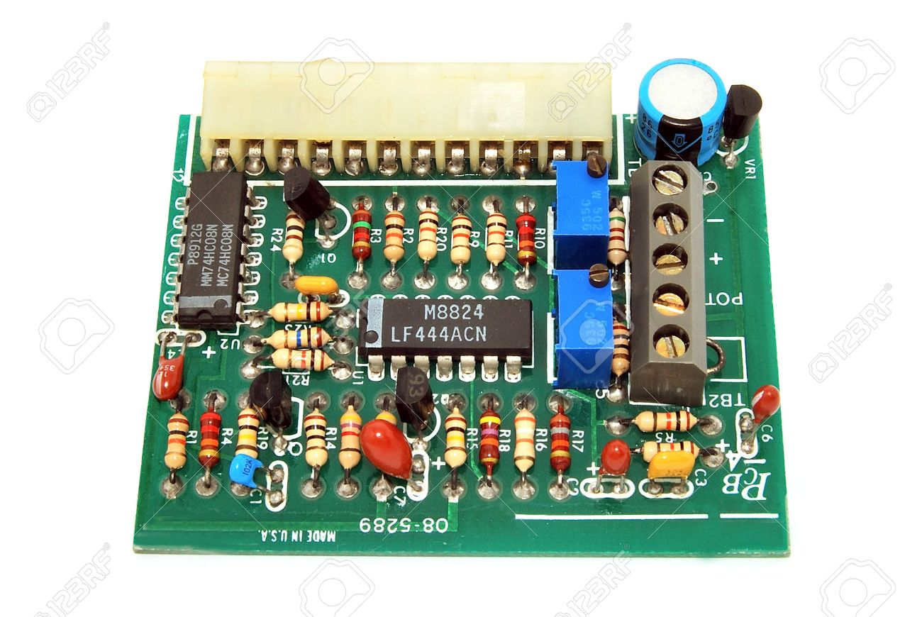 electronic circuit board with electric component stock photo rh 123rf com