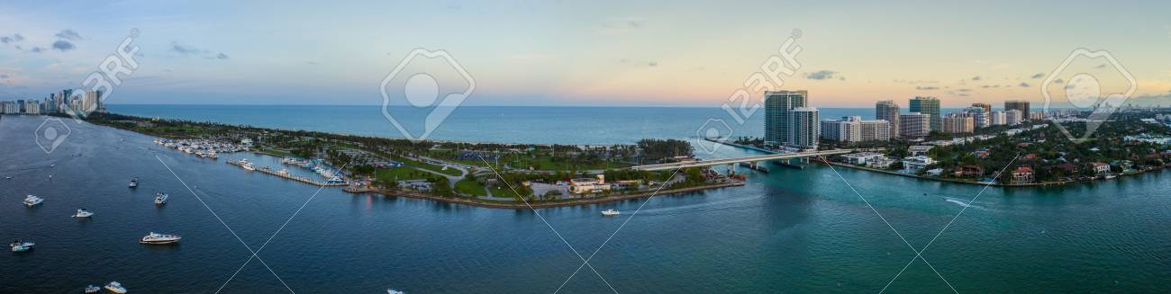 Aerial video of Miami Haulover Park and Bal Harbour Florida USA - 88288560