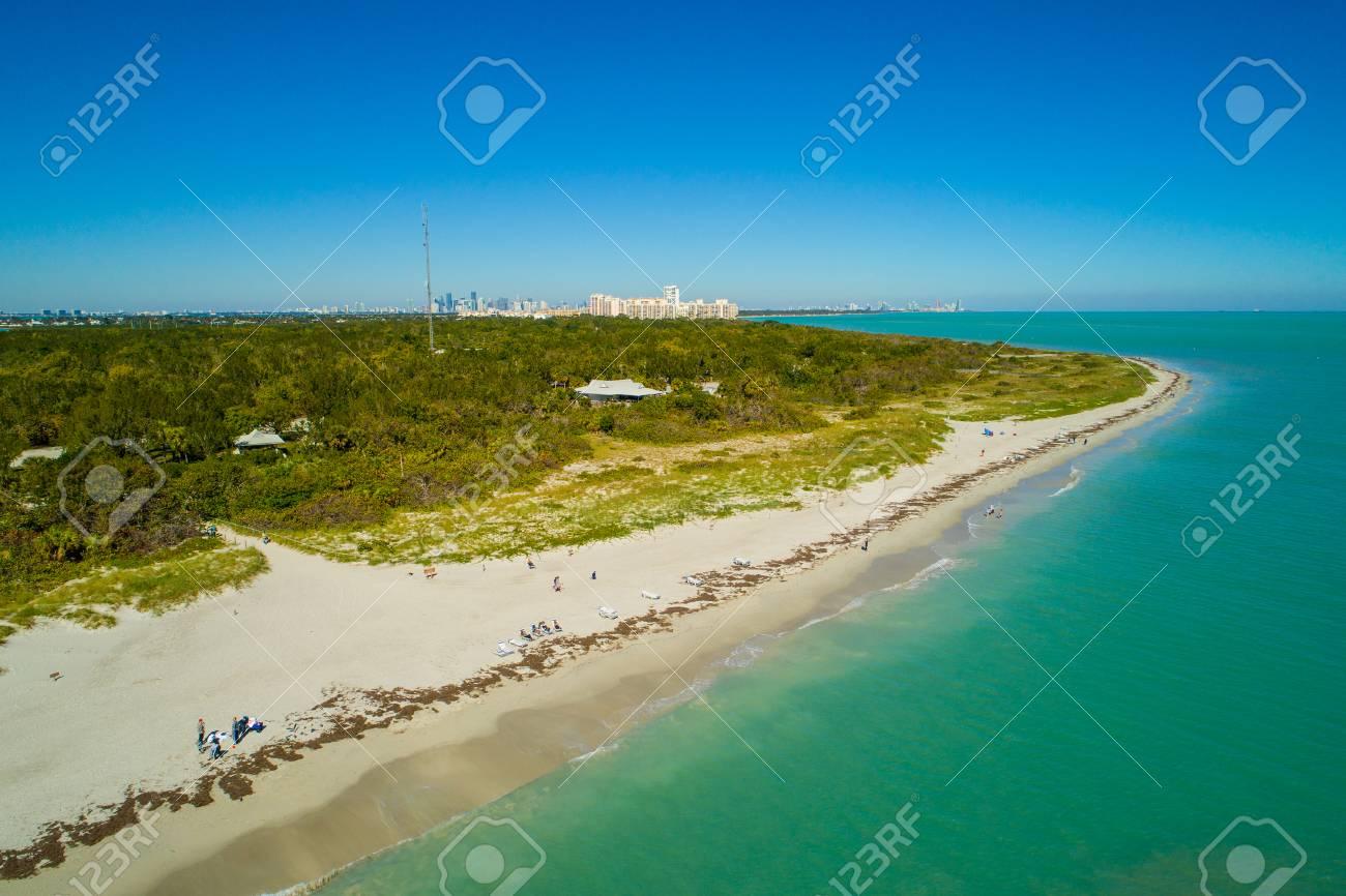Aerial image of a beach on Key Biscayne Miami FL - 93151325