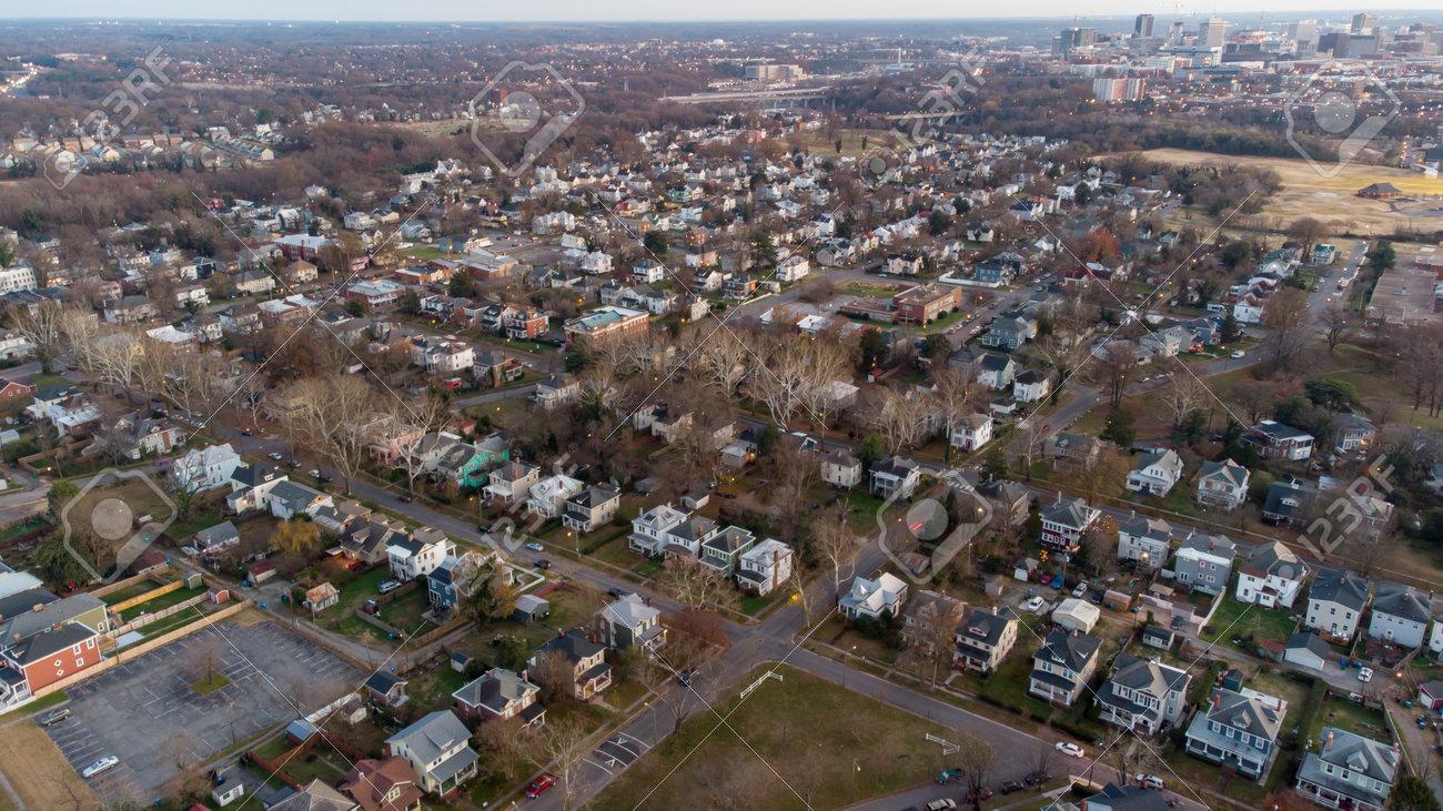 Aerial photo Richmond VA USA - 161711433