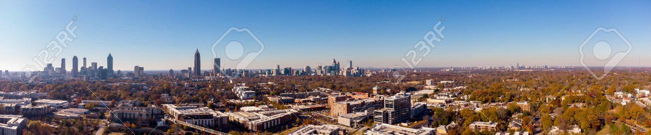 Aerial panorama Atlanta Georgia USA - 161264588