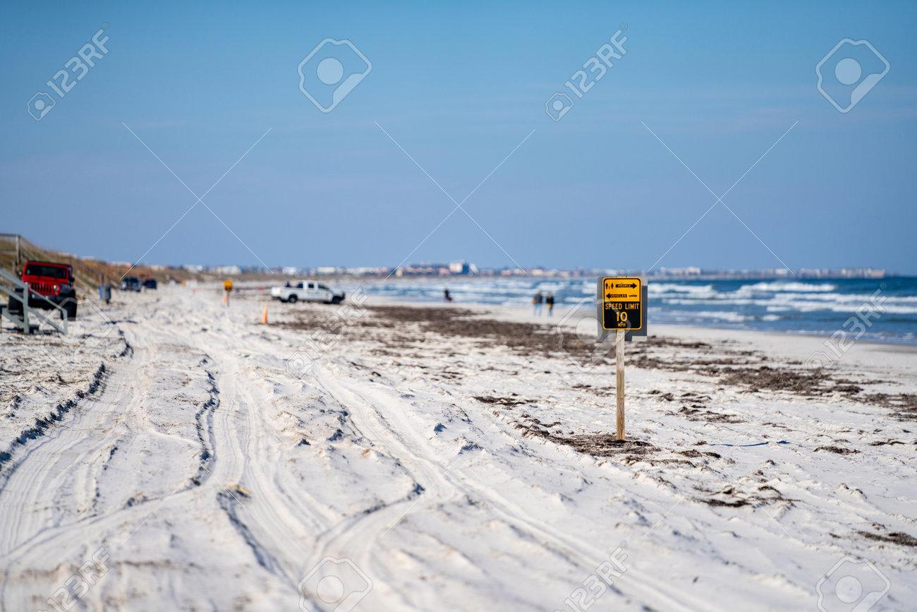 Driving on Crescent Beach FL USA - 161260343