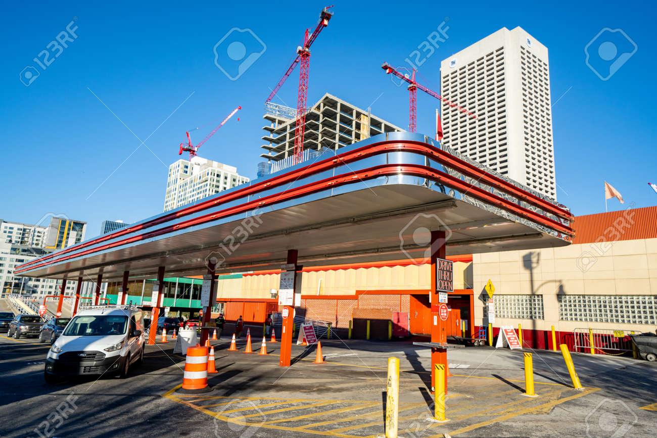Atlanta, GA, USA - December 12, 2020: Photo of The Varsity Atlanta GA drive in restaurant - 164841605