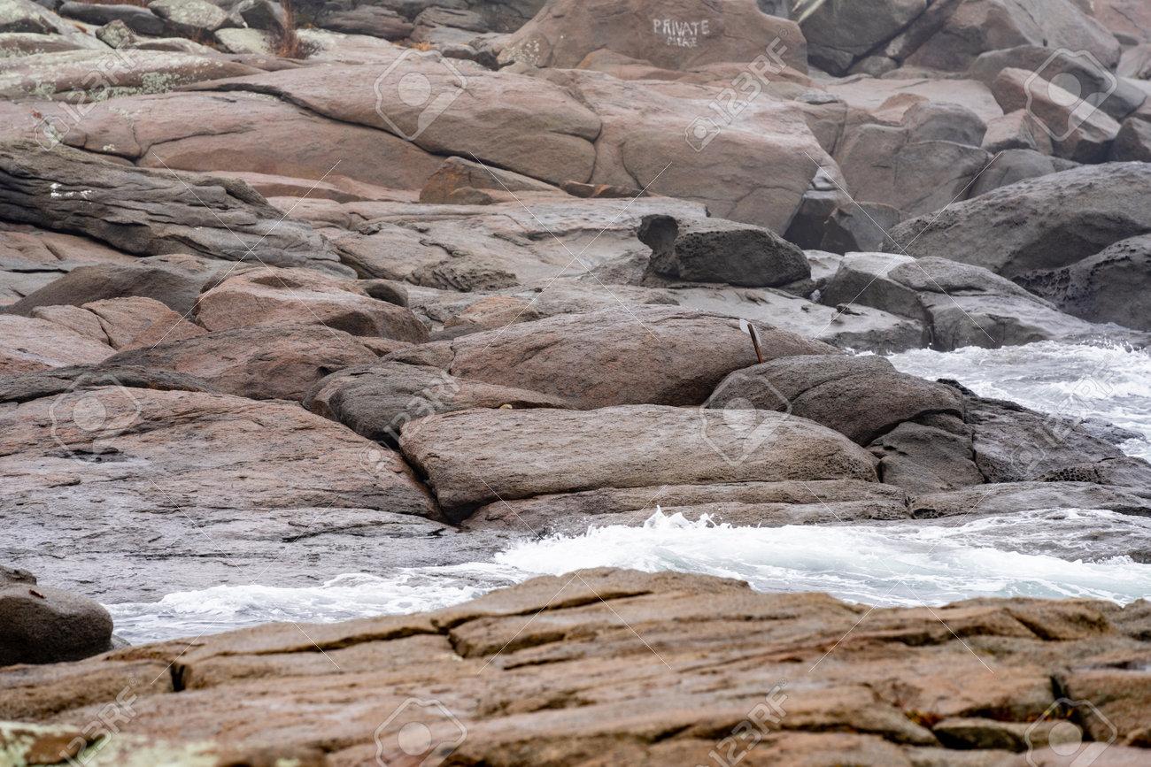 Rocky coast Maine USA York - 161257976
