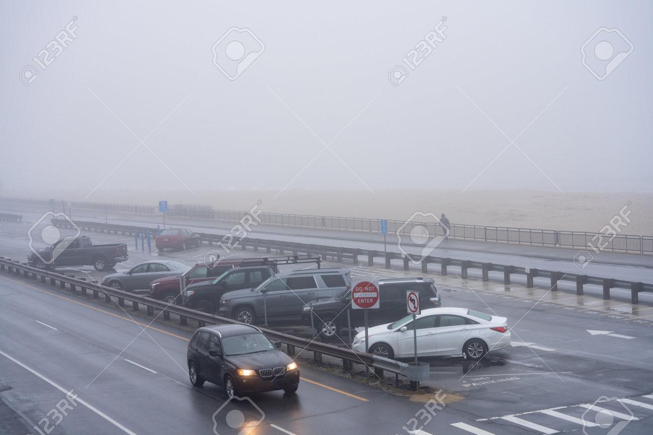 Winter scene in Hampton Beach NH USA - 161260348