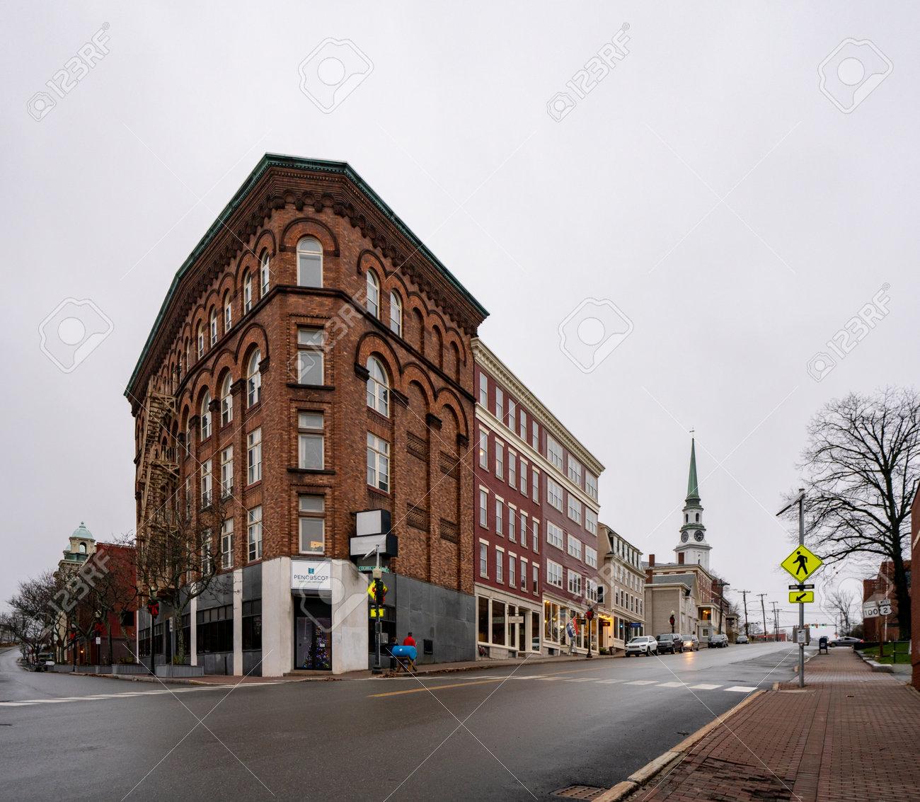 Bangor, ME, USA - December 12, 2020: Penobscot Financial Advisors Building Bangor Maine USA - 161601478
