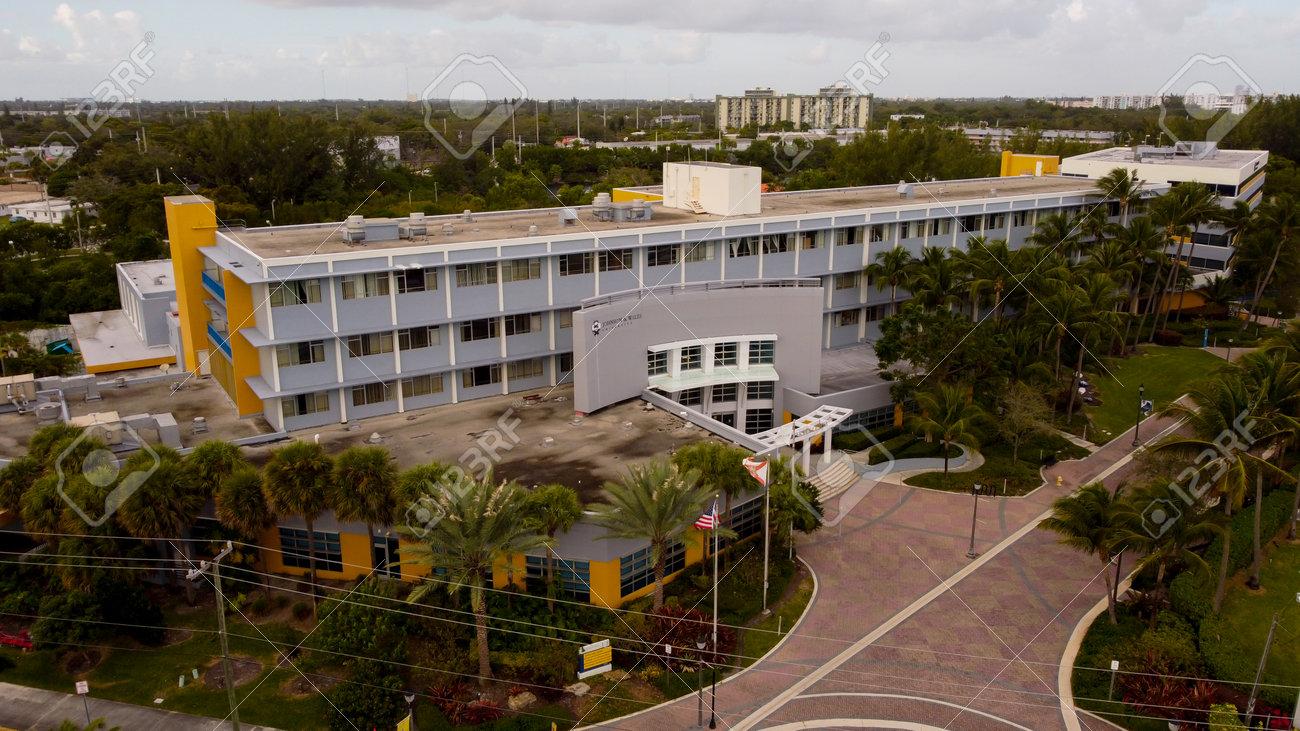 Miami, FL, USA - January 3, 2021: Johnson and Wales Miami Florida campus - 161718699