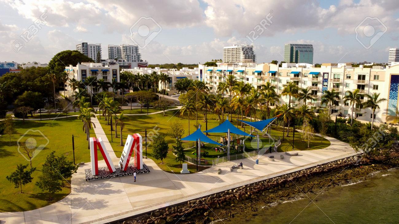 Aerial photo of Albert Pallot Park Miami FL - 161718700