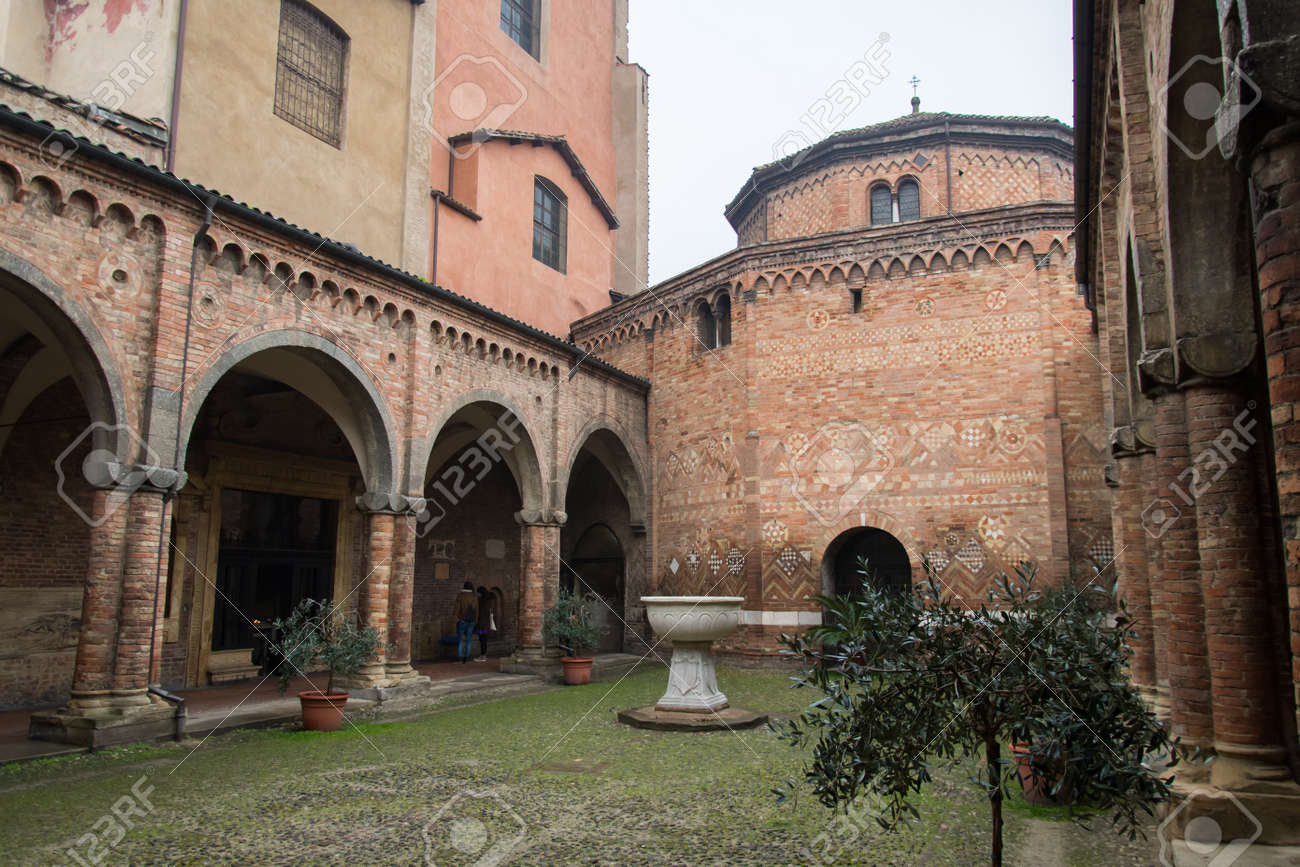 Cathedral S Interior Courtyard In Bologna Stock Photo Picture And Royalty Free Image Image 160035109