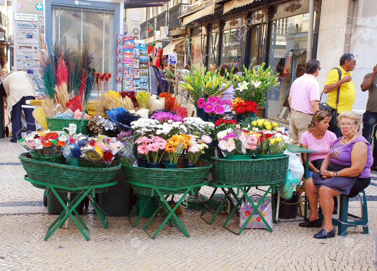 Lisbon portugal september 29 outdoor fresh flower market lisbon portugal september 29 outdoor fresh flower market from main augusta street izmirmasajfo