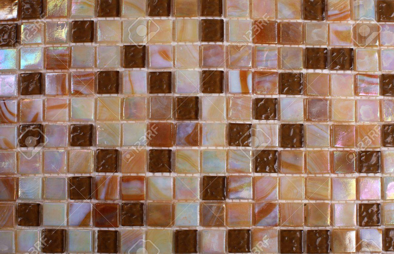 Mix shiny nacre glass mosaic in beige colors Stock Photo - 16300626