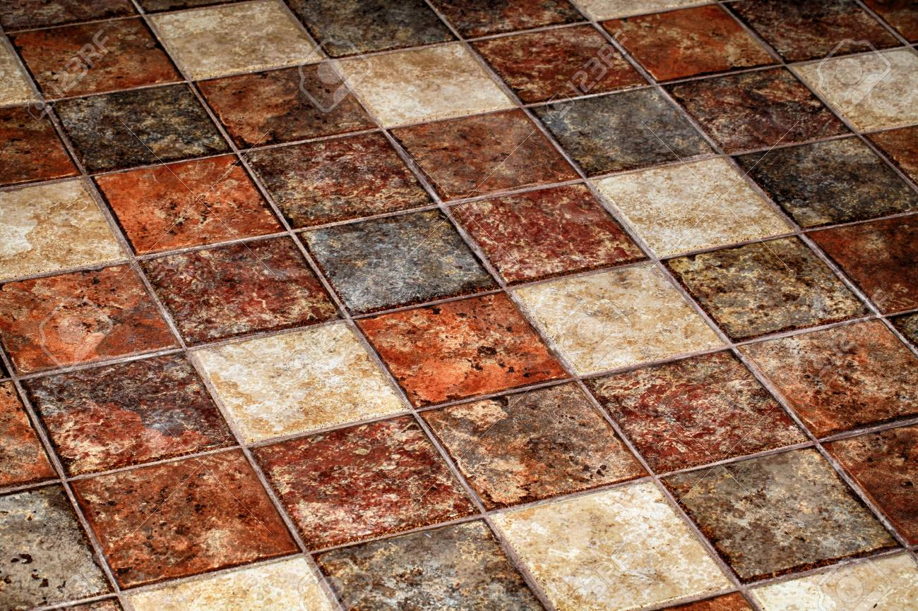 Vintage Multicolor Terracotta Tile Floor Stock Photo Picture And