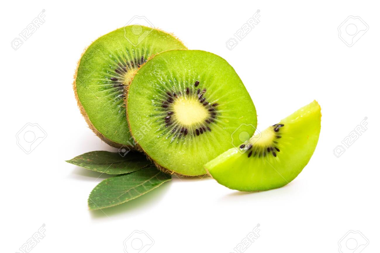kiwi fruit isolated on white background - 156141916