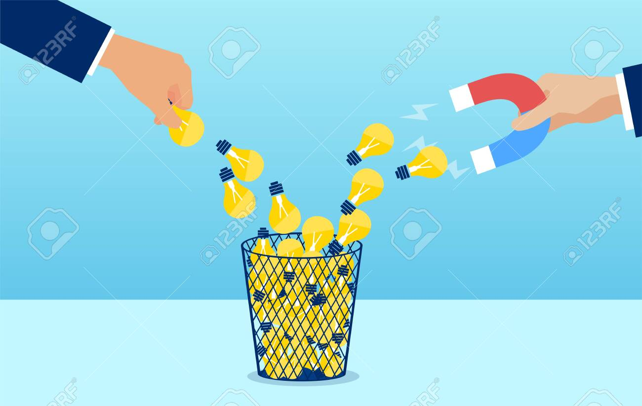 Vector Of A Businessman Hand With Magnet Attracting Creative Royalty Free Cliparts Vectors And Stock Illustration Image 153235447