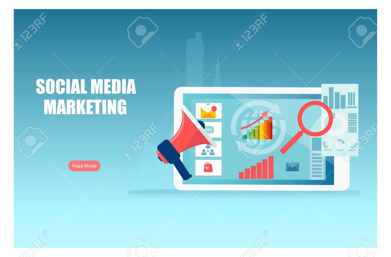 Social media digital marketing and sales data analysis concept - 170858508