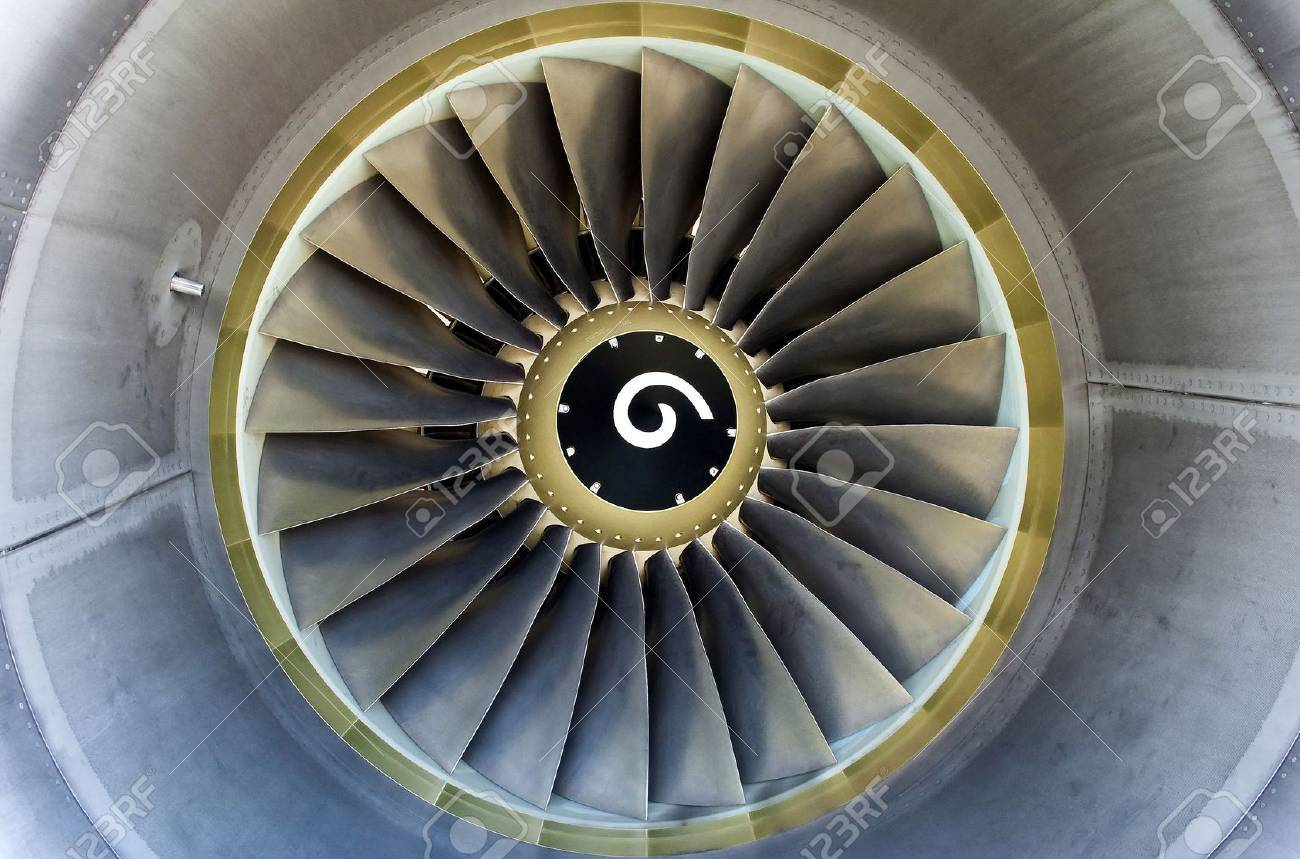 Close up of a turbofan jet engine in modern airliner. Stock Photo - 8098570