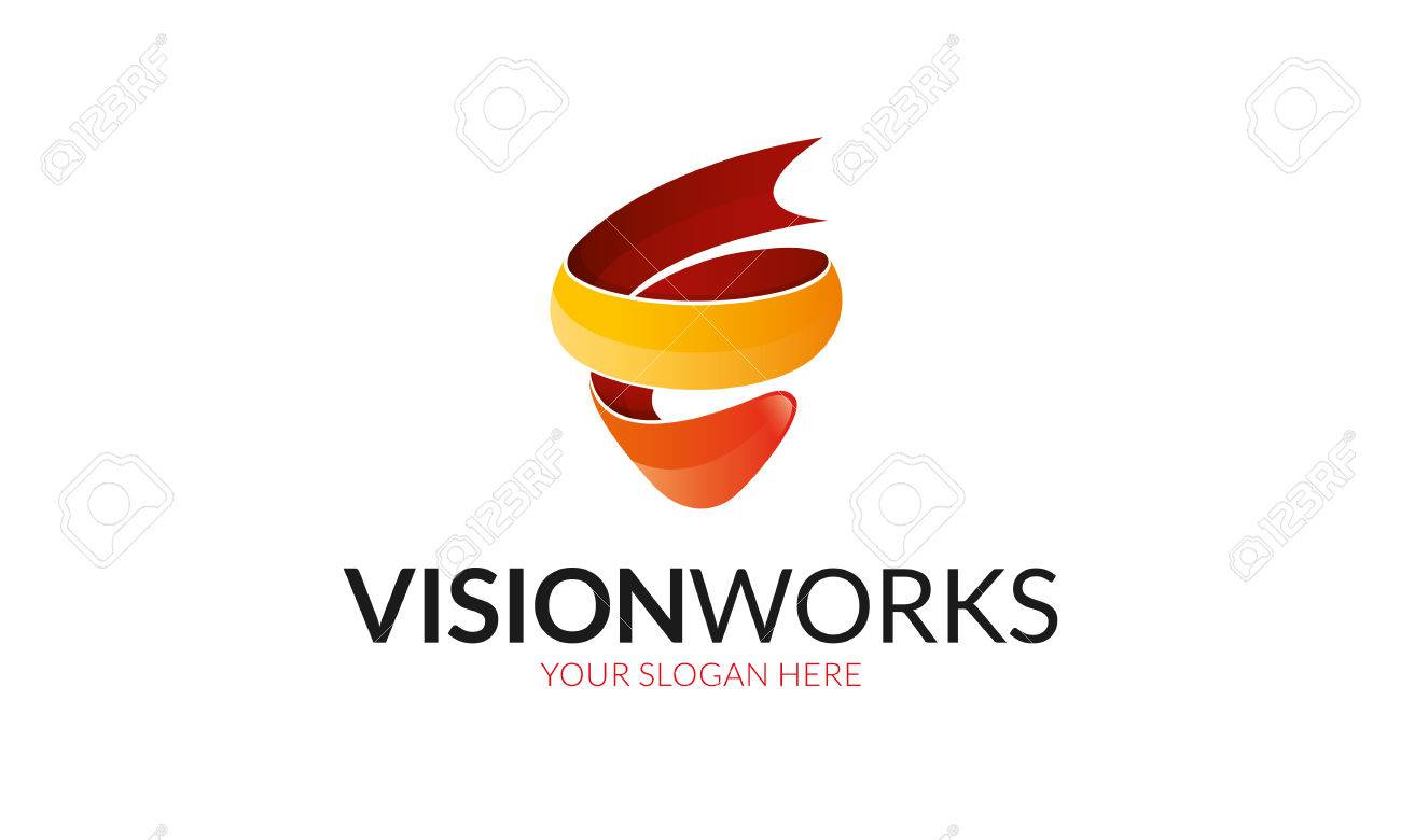 412c4c98aa Vision works Logo. Stock Vector - 74772151