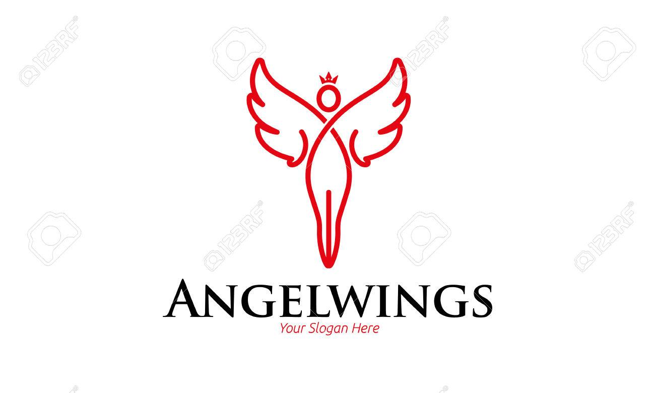 angel wings logo royalty free cliparts vectors and stock rh 123rf com angel logo images angel logo images
