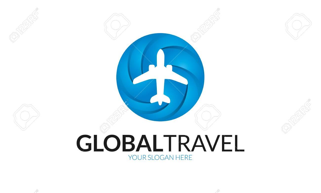 Global Travel Logo Stock Vector