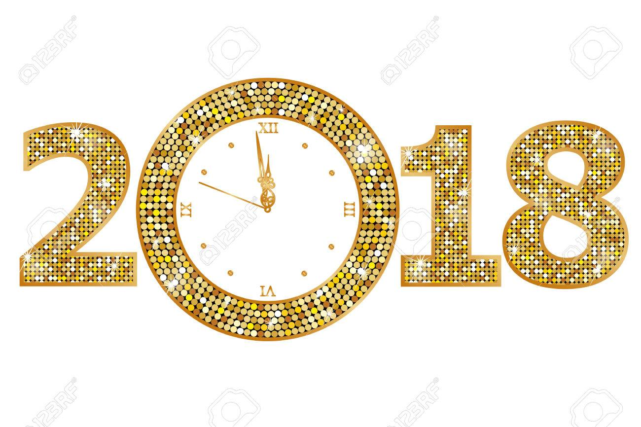 happy new year 2018 stock vector 80885643