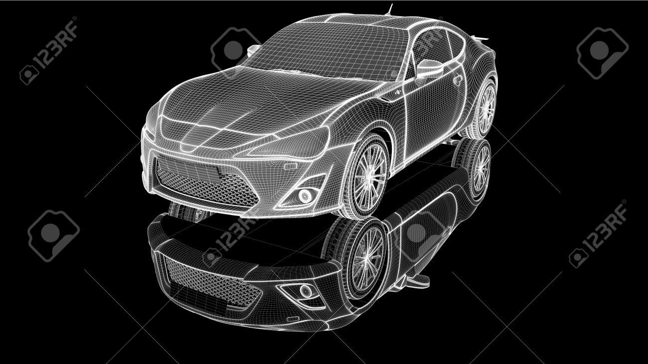 Wire-frame car - 23237706
