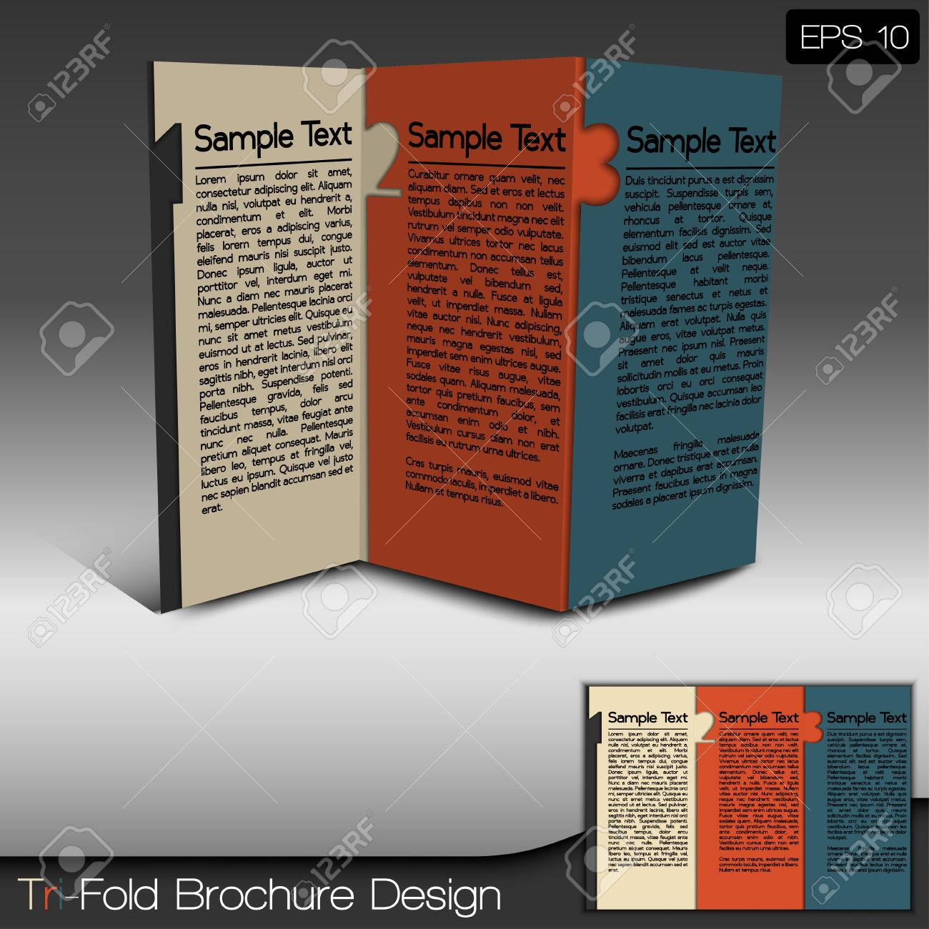 modern tri fold brochure design layout royalty free cliparts
