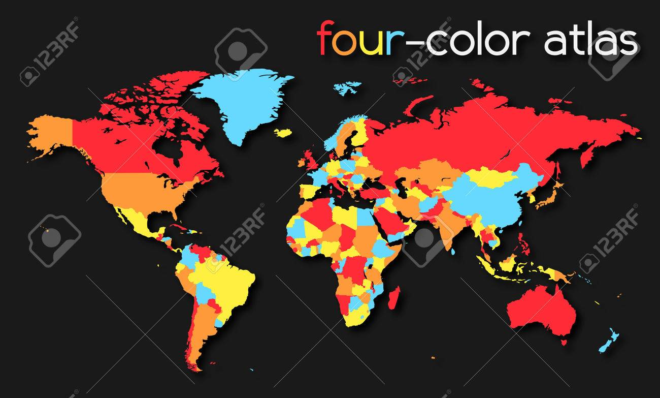 Four-color World Map - 23339458