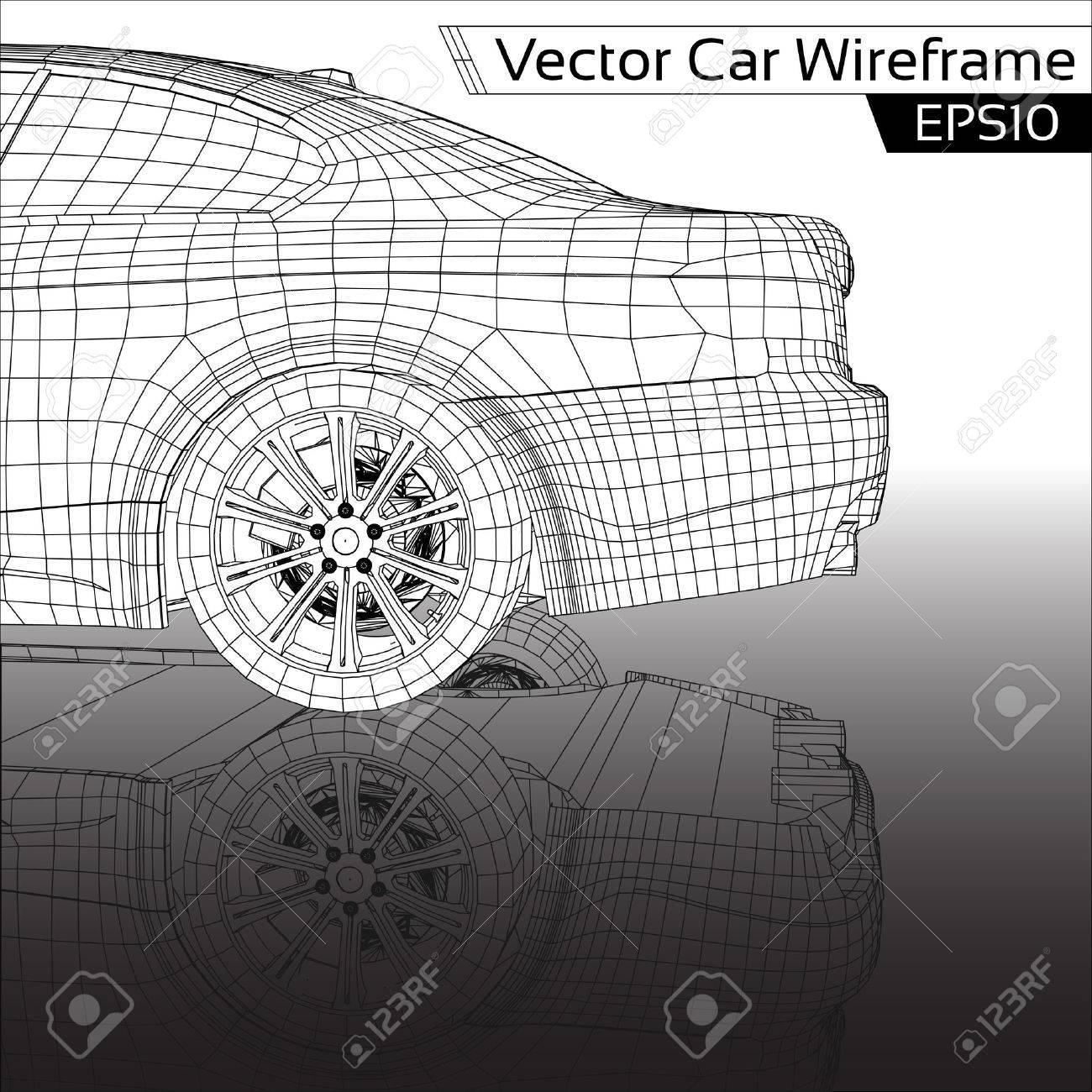 Car Wireframe - 23311011