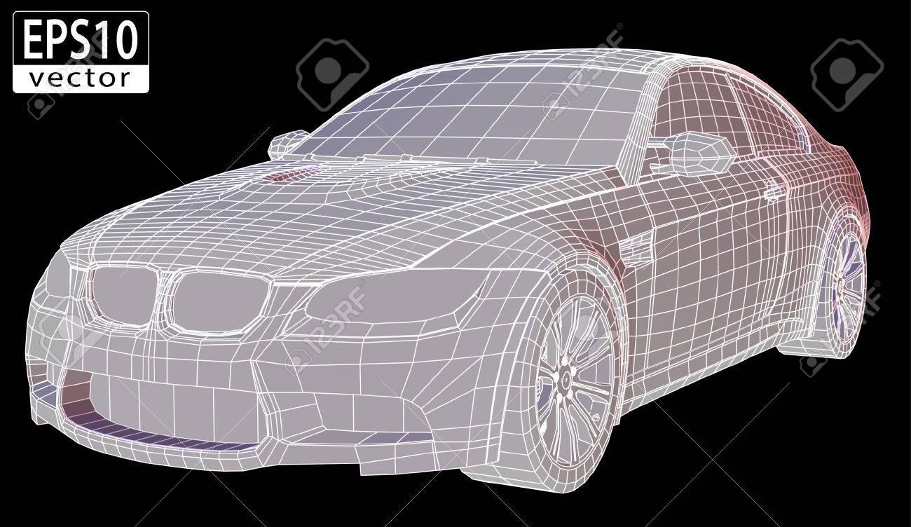 Car Wireframe - 23311010