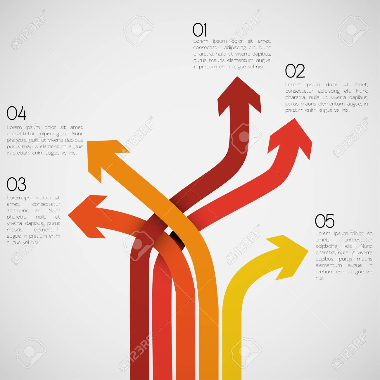 Different Way Infographics EPS10 Vector - 23764080