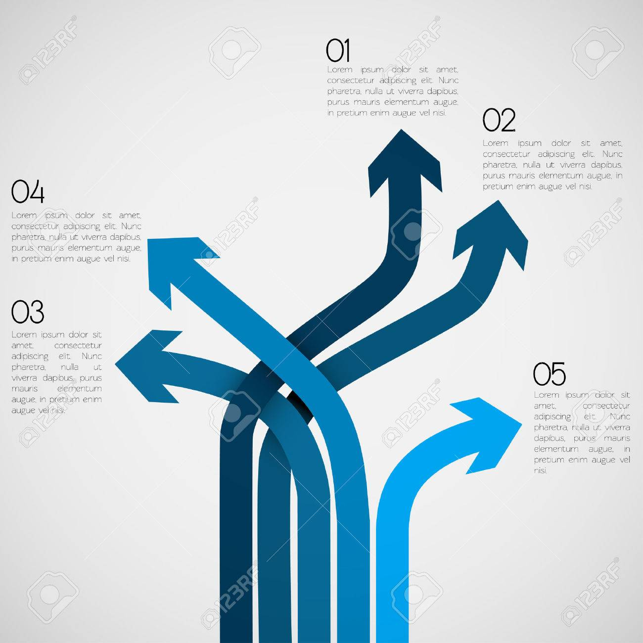 Different Way Infographics EPS10 Vector - 23764387
