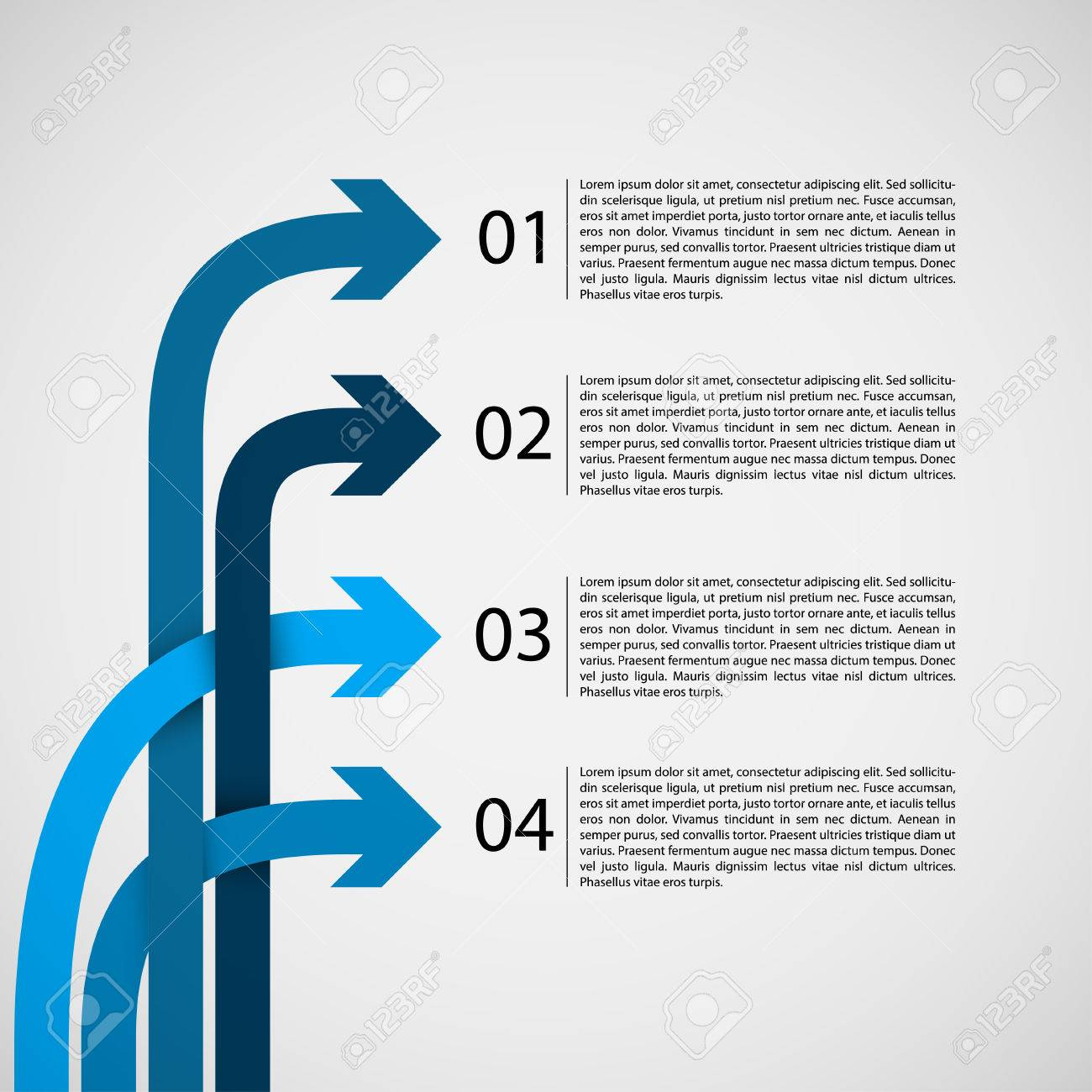 Different Way Infographics EPS10 Vector - 23764398