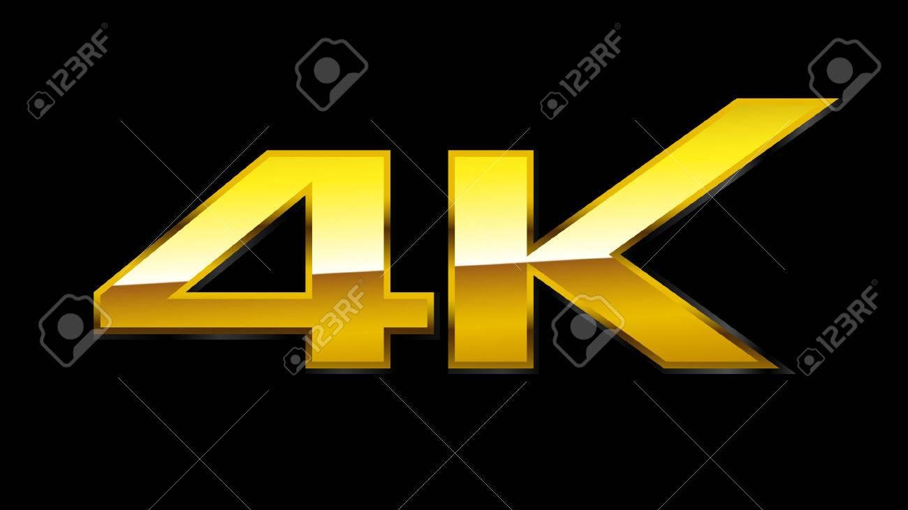 4K Sign Gold EPS10 Vector - 24202534
