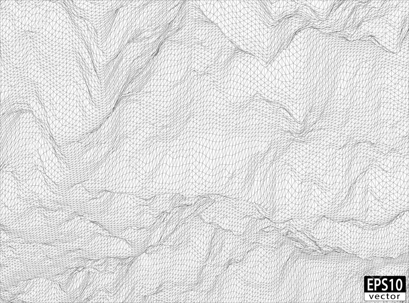 3D Detailed Wireframe EPS10 Vector - 30510456
