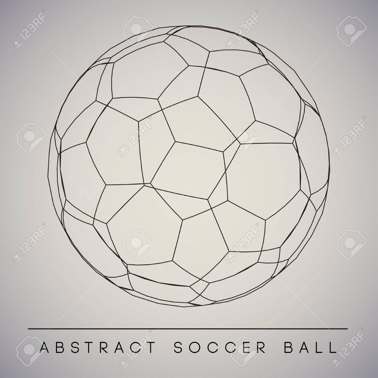 Abstract Soccer Ball Vector - 51768639