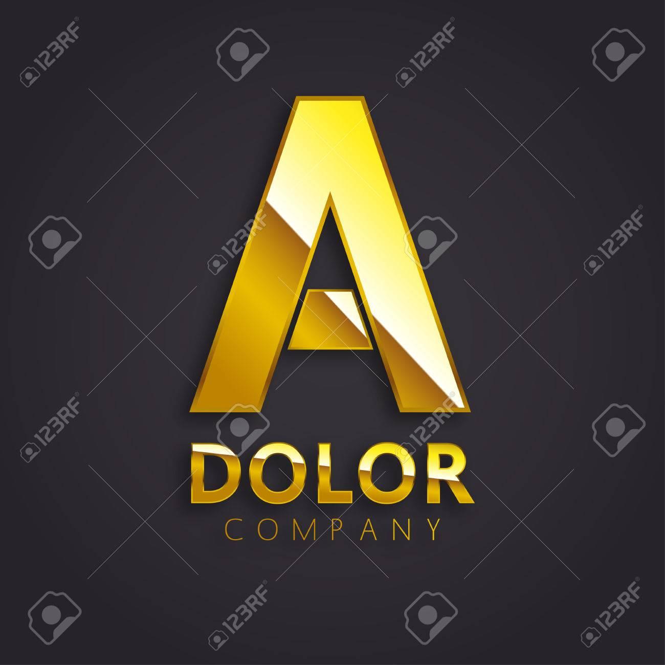Shiny Gold A Symbol Vector - 51768624